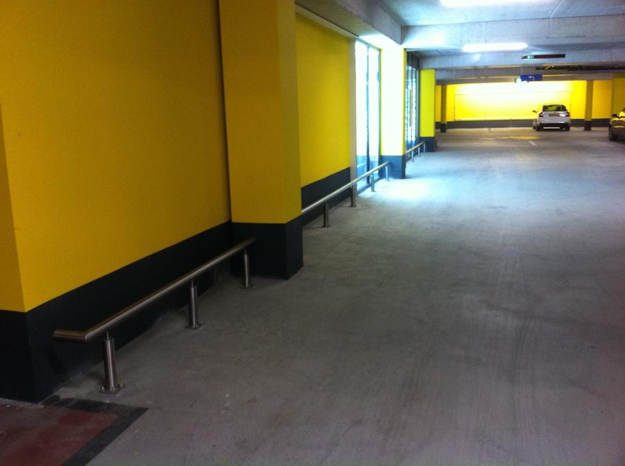 Doorrijbeveiliging RVS Parkeergarage Zuidhorn