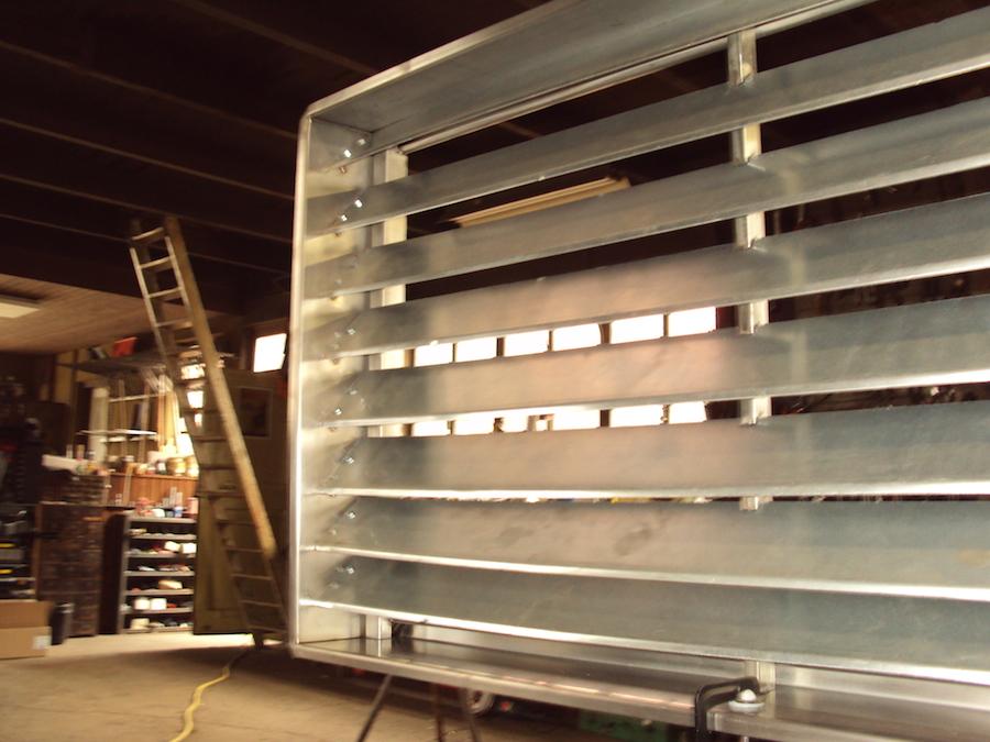 Ventilatierooster RVS in stal