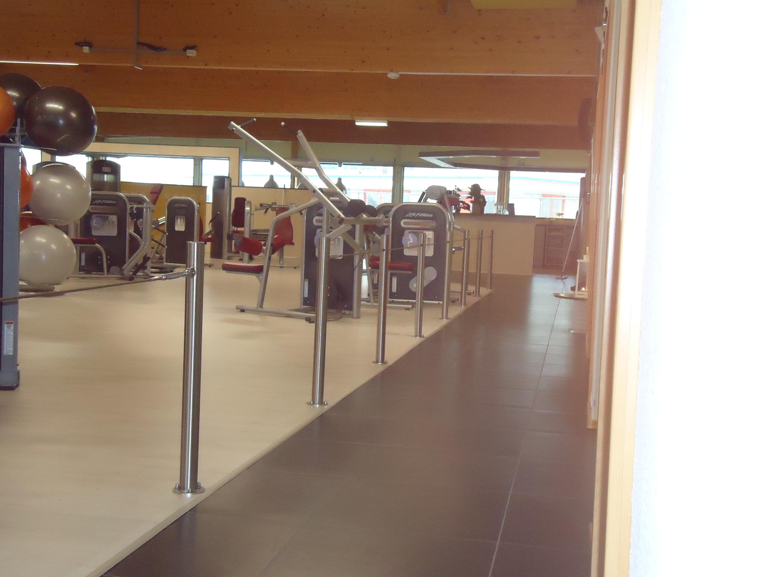 Palen RVS met draad sportschool